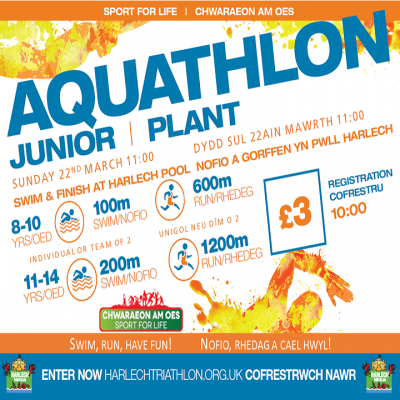 Harlech Junior Aquathlon