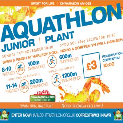 Harlech Junior Aquathlon